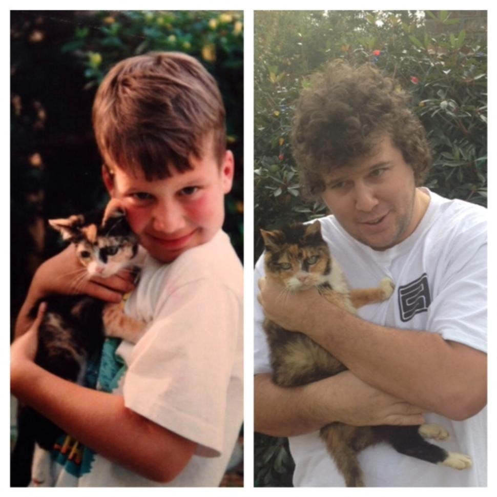 過了21年!好幸福的貓咪!