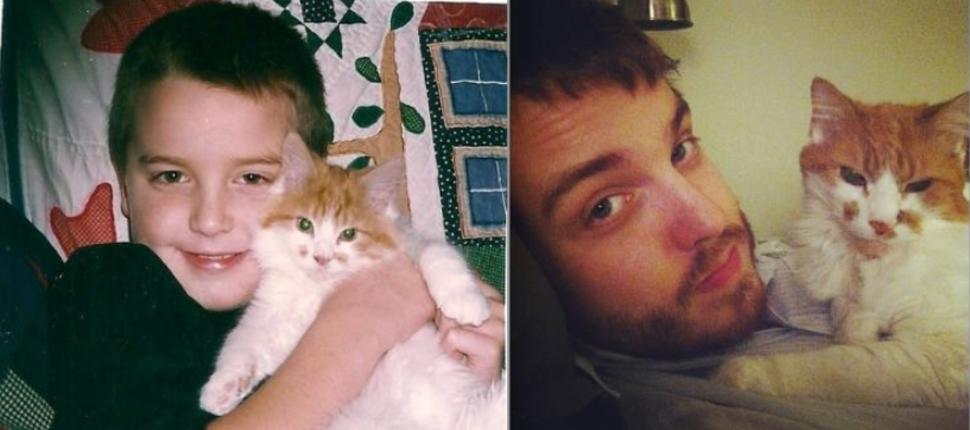 貓咪臉上的斑點過了10年還是很明顯!
