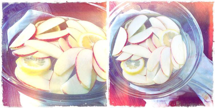 3.食物防腐:切完的蔬果可以直接浸泡在檸檬水裡,這樣可以防止這些蔬果便褐色。