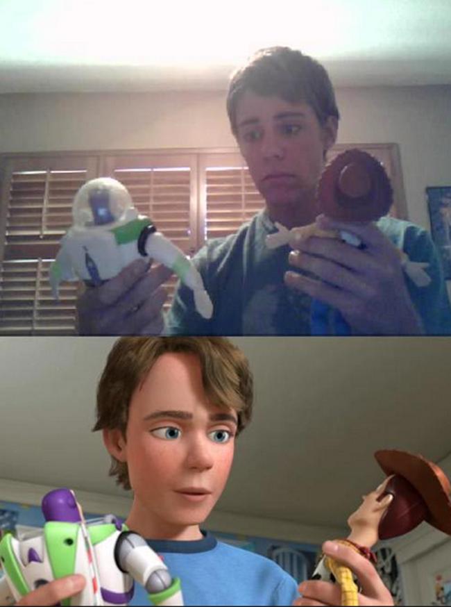 《玩具總動員》裡的安弟