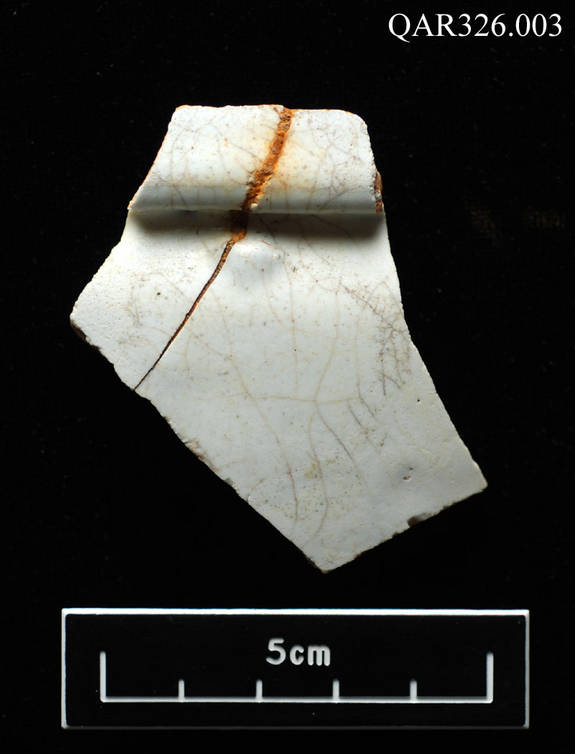 Storage fragments: This is a fragment of a jar that was probably used to hold some of the medical equipment.