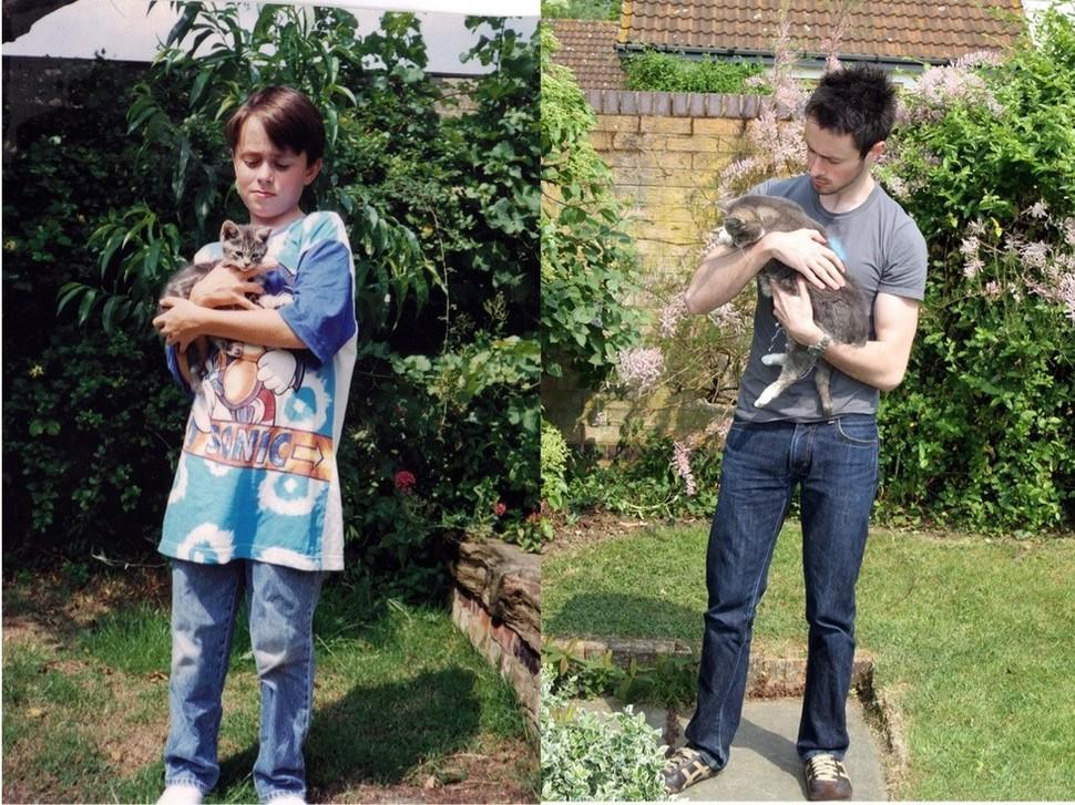 過了18年不管是人還是貓都長得不一樣了!