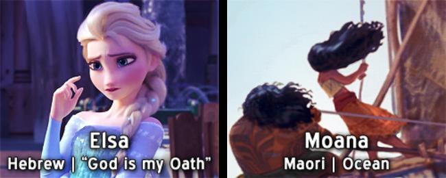 18個迪士尼公主在他們語言中「名字背後的玄機」 艾莎:神是我的誓言!