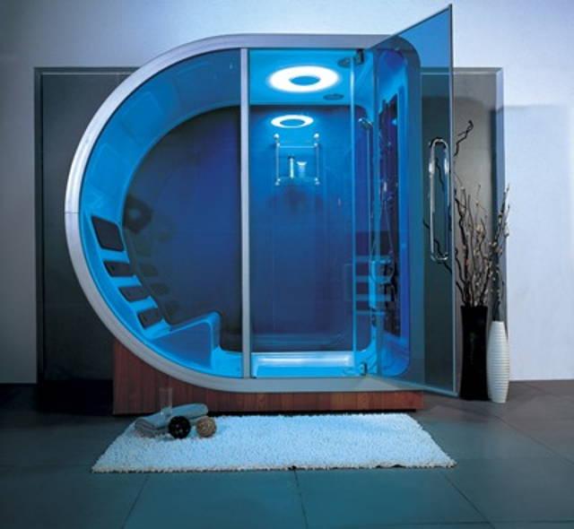 這個充滿科技感的淋浴間感覺會讓人變得很健康!