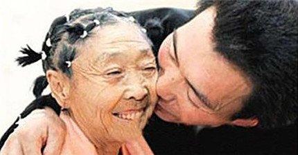 他不是老奶奶的孫子,是她老公!他為了比他大32歲的她,放棄了一切!