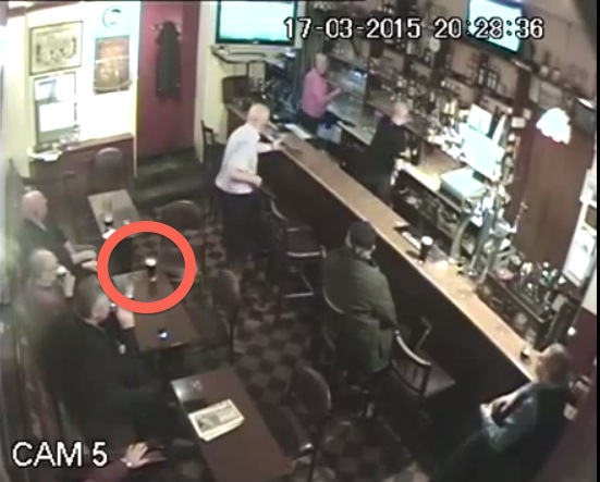 Glass explodes in bar because of ghost