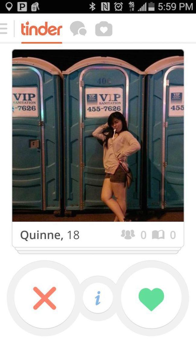 交友軟體上某位女孩的照片...