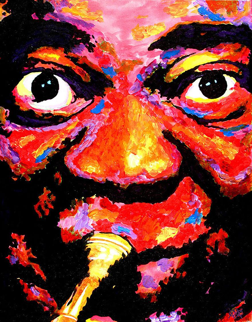 這些美麗的畫作真的會把你給嚇壞...因為它們的作者居然是一位雙眼全盲的畫家!