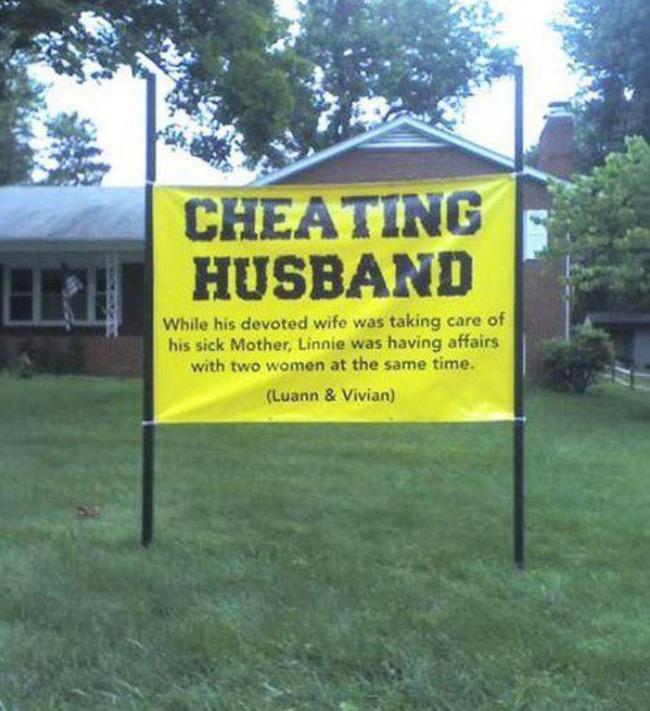 20個最兇狠的外遇報復手段,讓每個人從此規規矩矩地做個好伴侶。