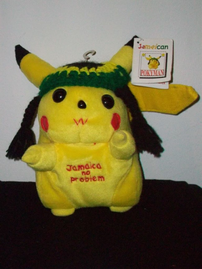Uh oh, Pikachu went to Jamaica.