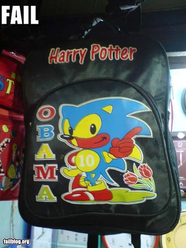 This has it all. Sonic, Harry Potter, and Obama.