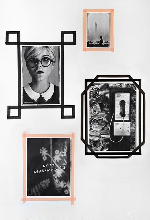 20張「用膠帶升級室內空間」的經典照片 先不說了我出門買材料去