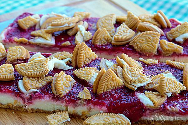 Golden Oreo Strawberry Cheesecake Bars