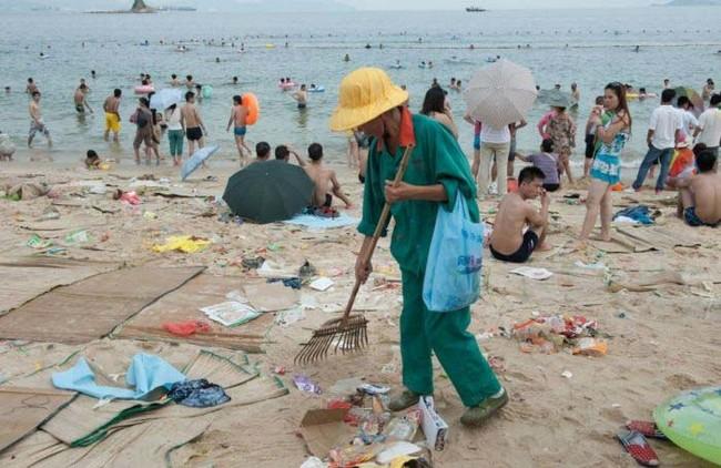 The beach cleanup took weeks.