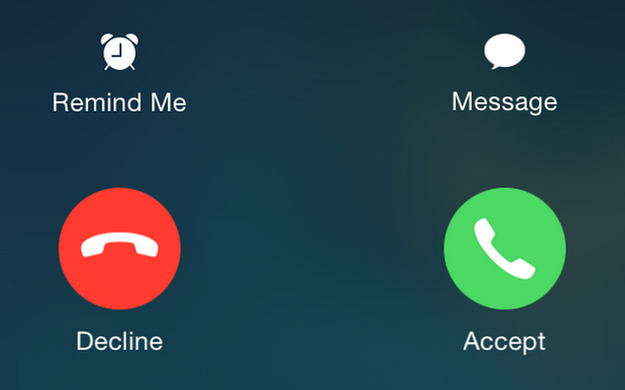 But if your phone is unlocked then you get the option to accept or decline the call.