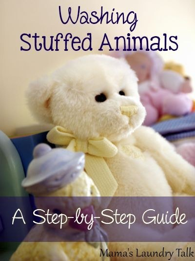 If a stuffed animal needs more in-depth cleaning, however, you can put it in the washing machine.