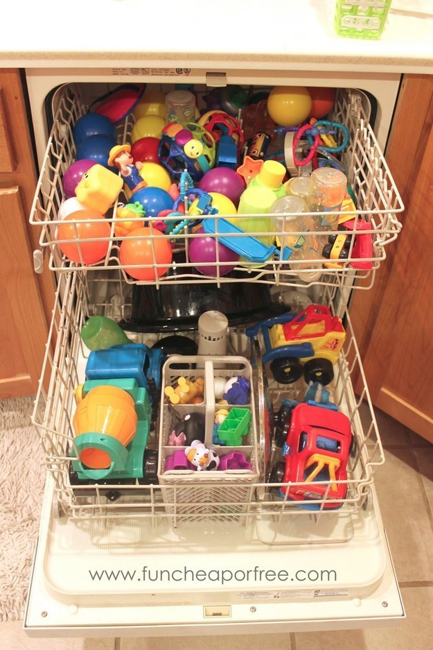 Clean your kids toys and a whole lot more in the dishwasher.