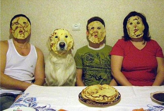 全家都用蛋餅敷臉?