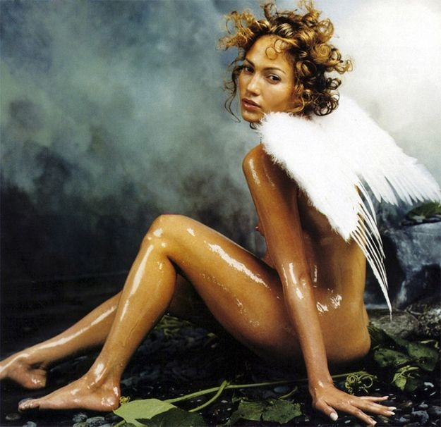 Lubed up Jennifer Lopez