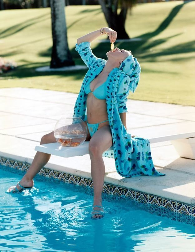 Madonna's day at the pool