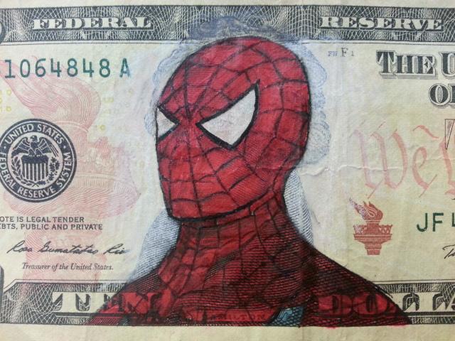 這名男子覺得普通紙鈔太無聊,決定要改造成這15張超爆笑的經典畫作!