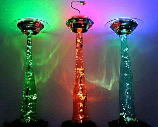 27個回收利用DIY做出來獨一無二的絕美檯燈。