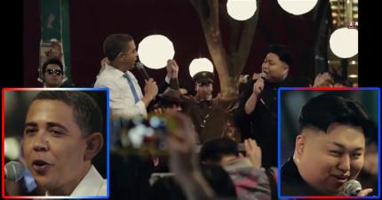世界要邁向和平了?歐巴馬和金正恩居然一起同台大合唱!?