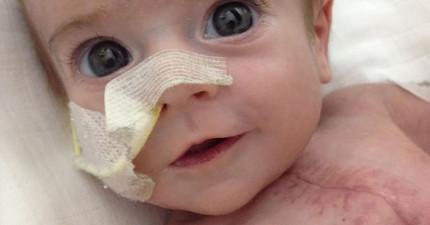 這個寶寶小小年紀就動了9次大手術,他展現出的勇氣會讓你心中激起一把火!
