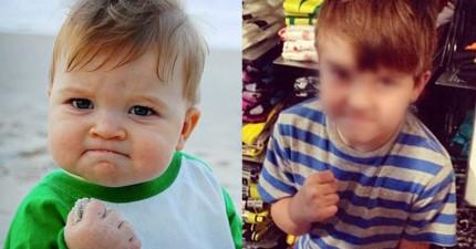 這個在網路爆紅的「勵志寶寶」現在已經8歲了,而他現在正在用他的名氣救他爸爸的命!