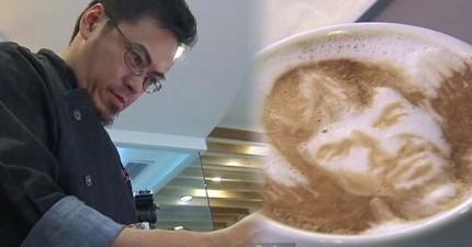 看完這位咖啡師神乎奇技的精細拉花,平常喝的完全LOW掉了...