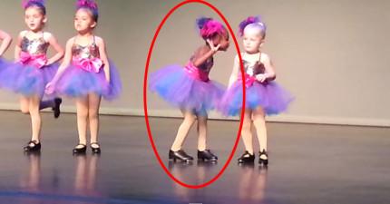 音樂一開始,這個完全不懂節拍的4歲小女生就讓所有人都笑到快要斷氣了!