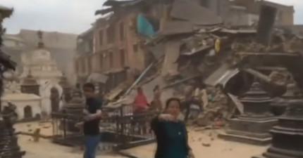 這就是尼泊爾強震當地人第一手影像,見證駭人劇烈程度。