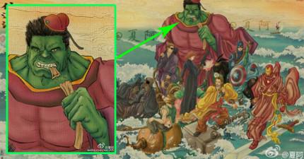 當《復仇者》英雄都變成《八仙》,呂洞賓造型的鋼鐵人真的太帥了!