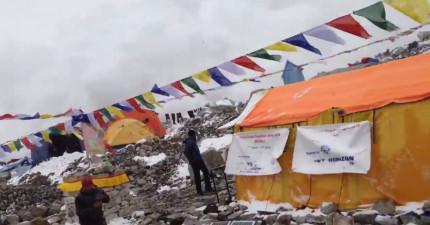 登山客捕捉下尼泊爾地震聖母峰大雪崩瞬間,冰雪撲天蓋地幾秒間就致命!