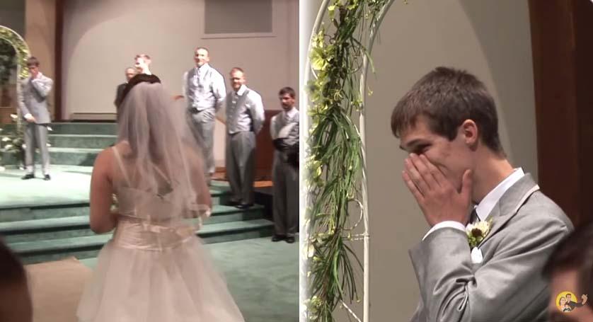 這位新娘一進禮堂後張開嘴巴時,看得我哭得比新郎還要兇啊...