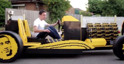 這個21歲的天才用樂高做出一台只用空氣就能有時速32km的「樂高汽車」!