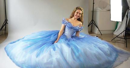 電影《仙履奇緣》中灰姑娘的夢幻禮服,製作過程就像神仙教母施法一樣夢幻!