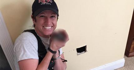 她在牆中聽到微弱的哭聲,結果救出來時...她做了一個很大的決定!