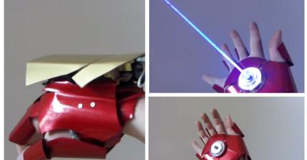 這個粉絲做出了一個真的「鋼鐵人之手」,還可以射出有殺傷力的光束和飛彈呢!