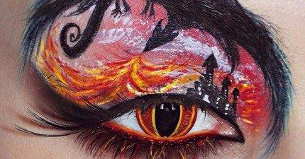 21個超神技眼妝,精細到可以在你眼睛上說故事!