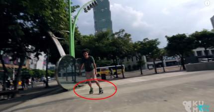 這兩個男生在台北信義區做的事情會讓你發現到一個超酷的新樂趣!