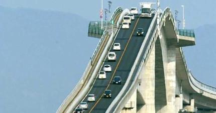 世上最可怕的日本大橋根本就是雲霄飛車!影片中的那個斜度嚇死人!