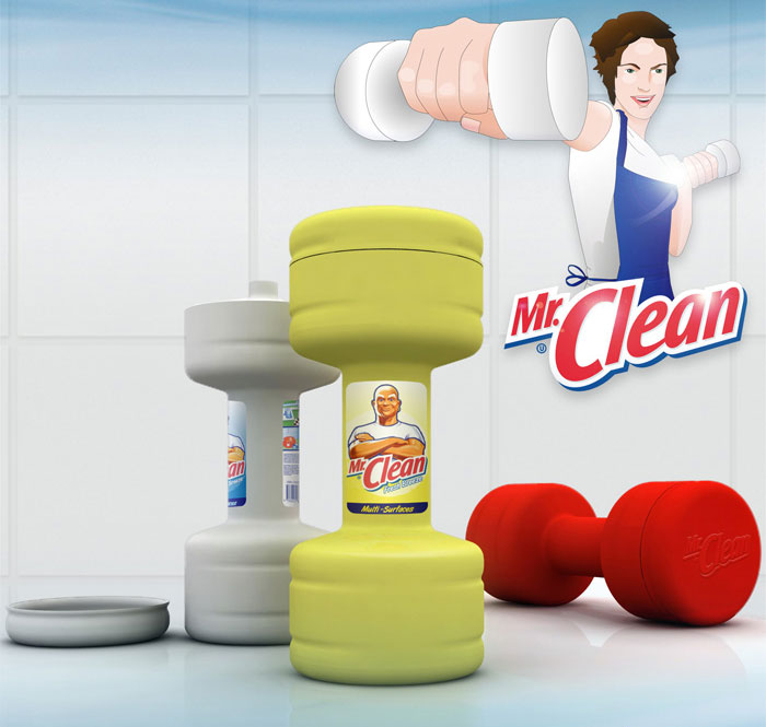 Mr Clean Packaging Lets You Work Out While Doing The Dishes