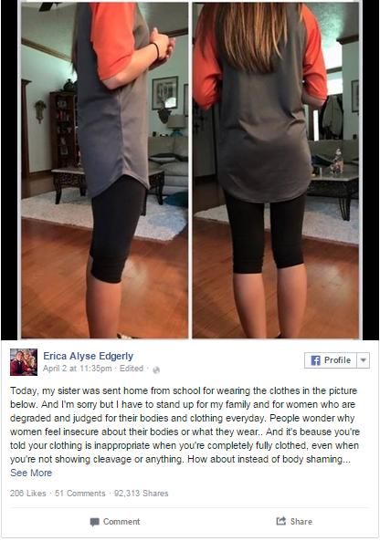 上百萬人都看不出這張照片有什麼不雅問題 但為什麼老師請她回家換衣服呢?