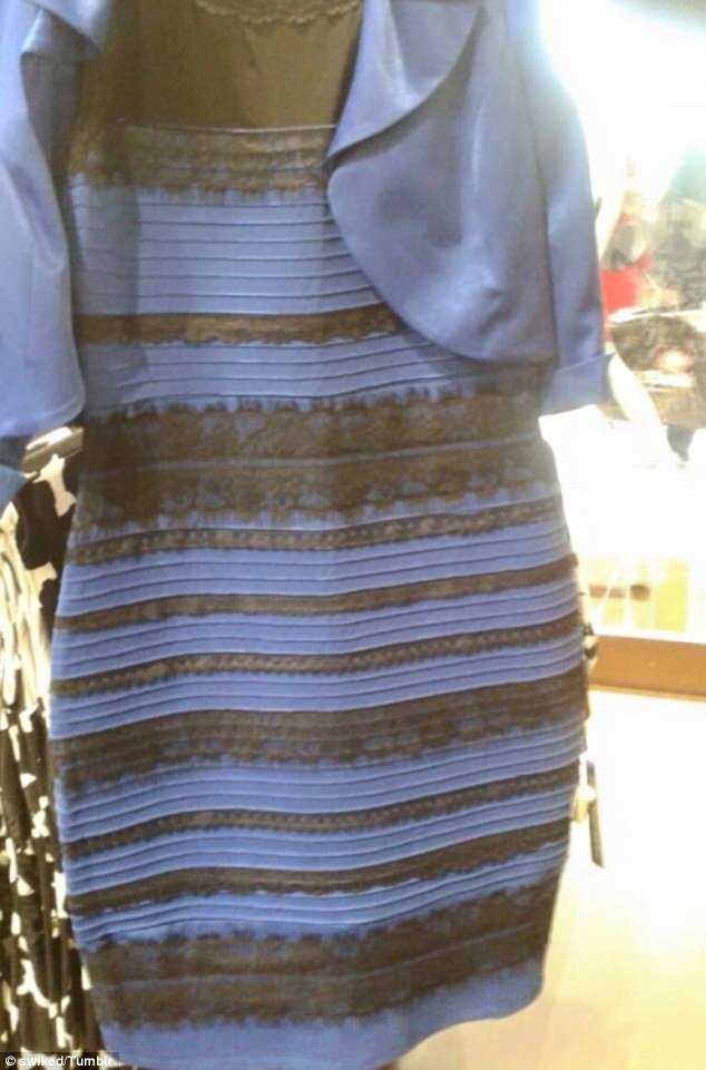 This picture of a two-tone dress sparked widespread debate as people disagreed over what colour it was