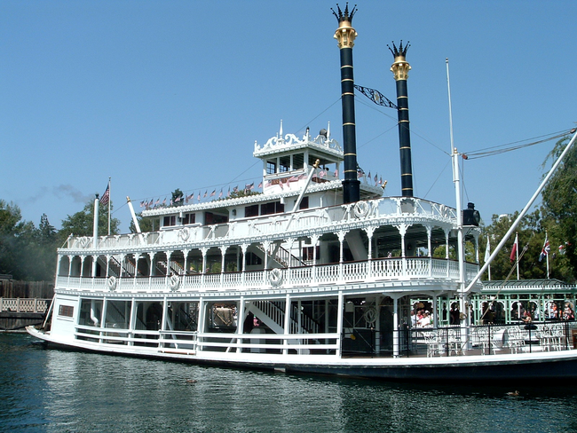 14.) If you ask to pilot Mark Twain's River Boat ride, you are welcomed to the captain's room where you can pilot the ship.