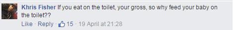 這張媽媽在廁所哺乳的爆紅照片造成了正反方網友激辯,你支持哪一方說法?