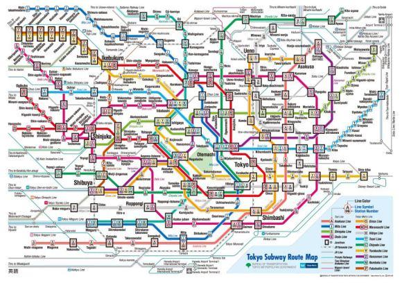 全球16個城市地鐵路線複雜度比較。芬蘭的地鐵會不會太單純了啊?!
