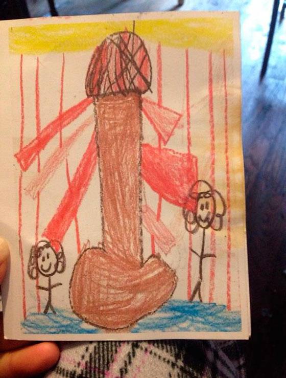 12張天真小孩所畫的純真畫作,但卻讓每個人都想歪了...