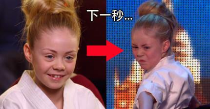 小女生上台時評審還覺得很可愛,當她開始幾秒後把我嚇得屁滾尿流!